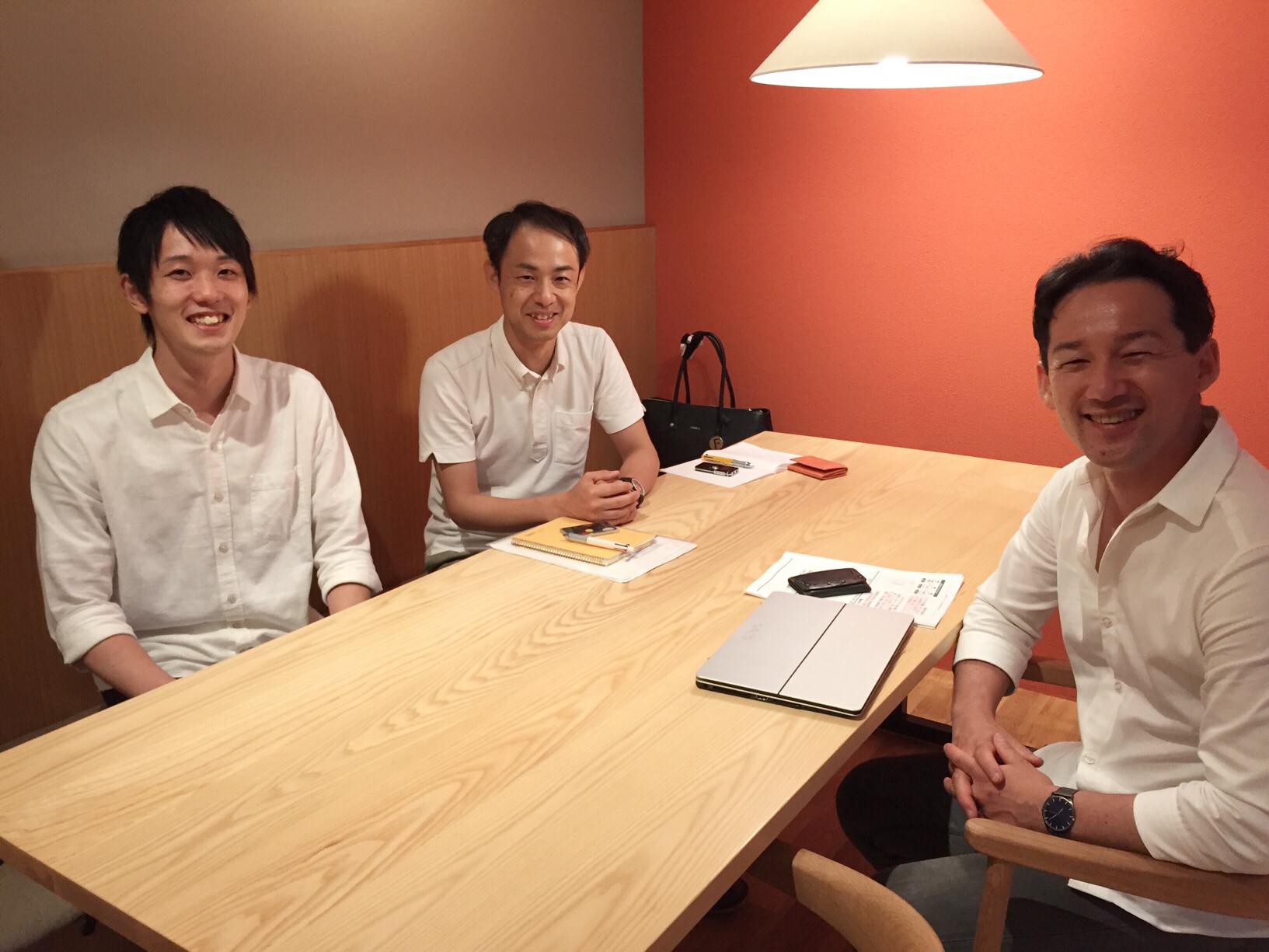 三浦雅之さんと大石先生と中西さん