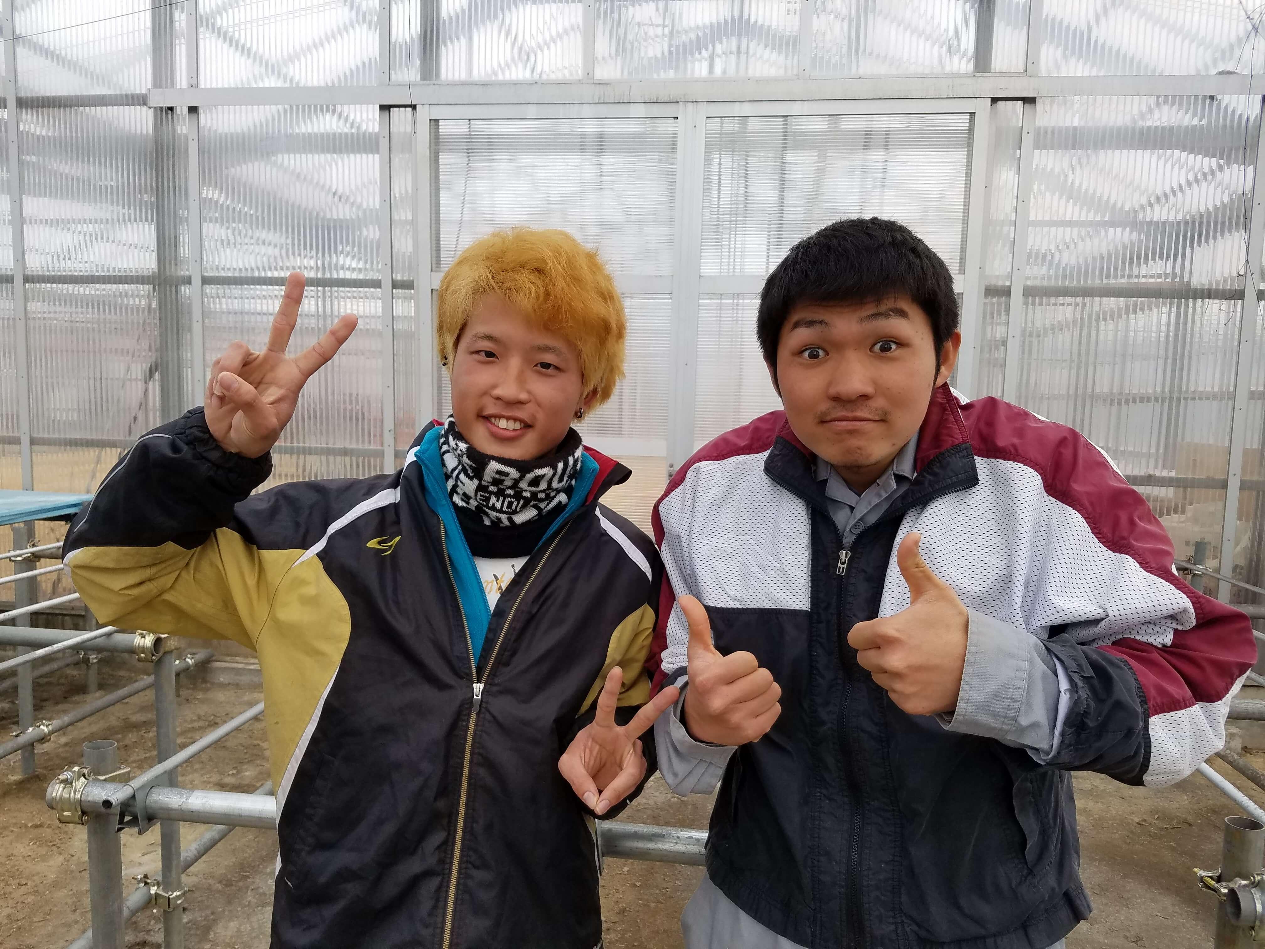 久野雄生さん(24歳) 松村凌太朗さん(20歳)